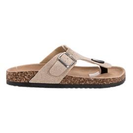 Evento ruskea Muodikas flip-flops