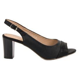 Evento Tyylikäs musta sandaali