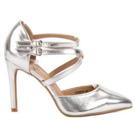 Kylie harmaa Shiny Fashion Studs