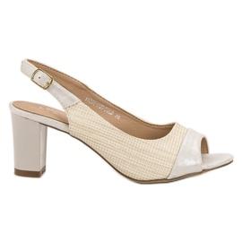 Evento ruskea Tyylikäs beige sandaalit