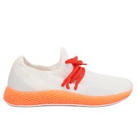 Urheilujalkineet valkoinen-oranssi B-6851 Oranssi