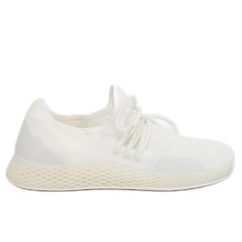 Valkoinen Valkoiset urheilukengät B-6851 White