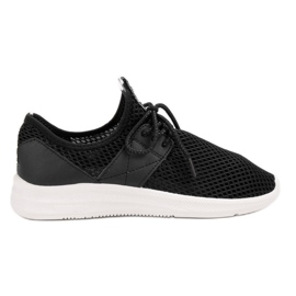 Lovery musta Airy Sports Shoes