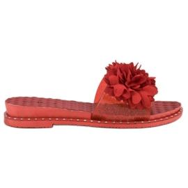 Anesia Paris punainen Kukka-Tossut