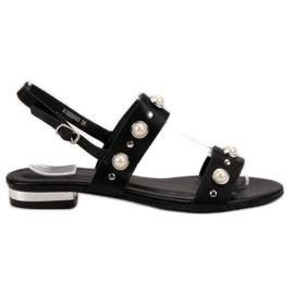 Kylie Mukavat mustat sandaalit
