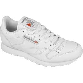 Valkoinen Reebok Classic Leather Jr 50151 kengät