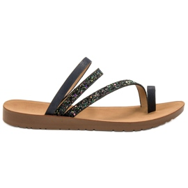 Vinceza musta Flip-flops Brocadella
