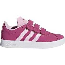 Kengät Adidas Vl Court 2.0 Cmf C pinkki Jr F36394