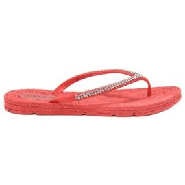 Seastar punainen Flip-flopit Zirkoneilla