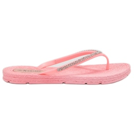 Seastar pinkki Flip-flopit Zirkoneilla