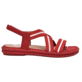 Seastar punainen Mukavat naisten sandaalit