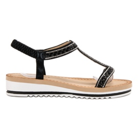 Bestelle musta Slip-on Weddered Sandaalit