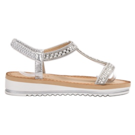 Bestelle harmaa Slip-on Weddered Sandaalit
