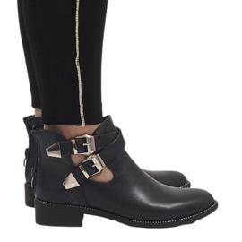 Ideal Shoes Laivaston sininen avoin saapikkaat Y8157