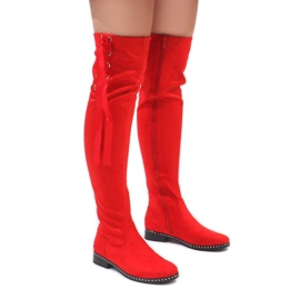 Foreverfolie punainen Punaiset mokkanahkaiset saappaat H308