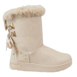 Ruskea Naisten beige lumikengät AN-107