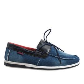 Laivasto Tummansiniset elegantit kengät AB108-1