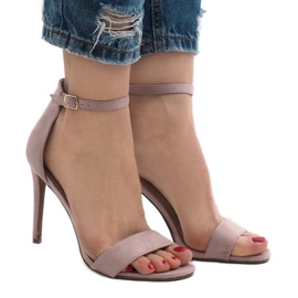 Violetti Violetiset sandaalit mokkanahalla SY-31P
