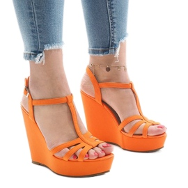 Oranssi kiilakorko sandaalit A-8A