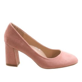 Vaaleanpunaiset vaaleanpunaiset pumput 7436 pinkki