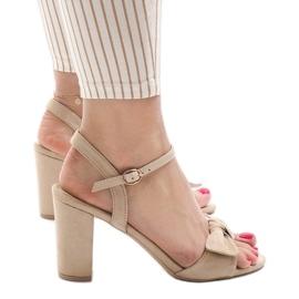 Ruskea Beige sandaalit korkokengät Gh 1508