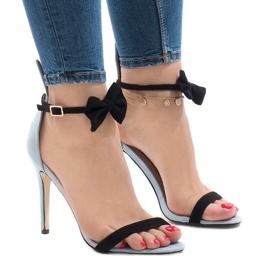 Sininen mokka sandaalit korkokengän keula JZ-6334