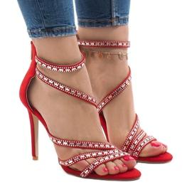 Punaiset sandaalit tapilla 9081-9 punainen