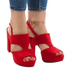 Punaiset sandaalit postitse JS-8001 punainen
