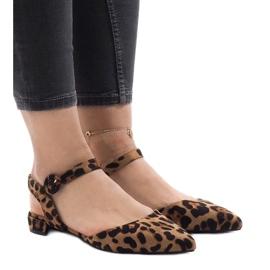 Leoparditulostussandaalit ballerinas 77-100