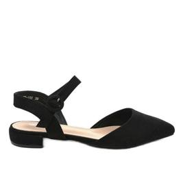 Musta balerina-sandaalit 77-100