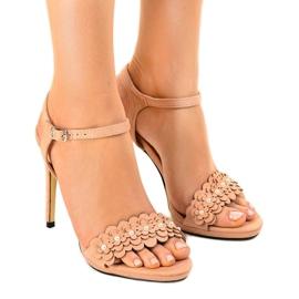 Pinkki Vaaleanpunaiset sandaalit kukkaruukulla TN-001
