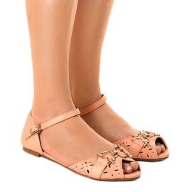 Pinkki Vaaleanpunaiset sandaalit, joissa on GF-180 solki