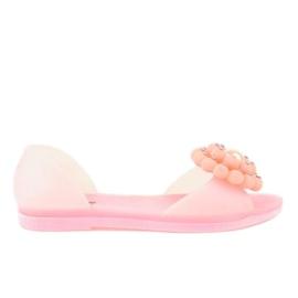 Pinkki Vaaleanpunainen meliski sandaalit, joissa on HM701 kukka