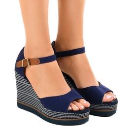 Laivasto Tummansiniset sandaalit kiilassa 9079 espadrillia