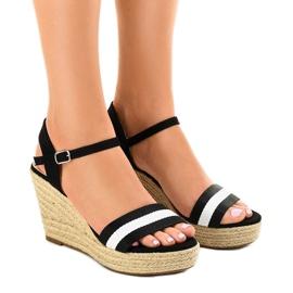 Musta espadrillin kiila sandaalit 9072