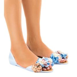 Sininen meliski sandaalit, joissa on AE20-kukat