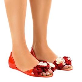Punainen Punaiset meliski sandaalit, joissa on AE20-kukat