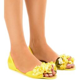 Keltainen Keltaiset meliski sandaalit, joissa on AE20-kukat
