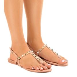 Pinkki Vaaleanpunaiset sandaalit ja mokkanapit 11-1