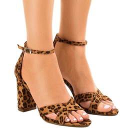 Panther-sandaalit suede P-6399