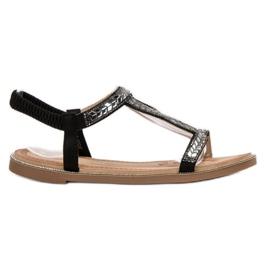 Forever Folie Slip-on sandaalit kiteillä musta
