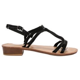 SHELOVET Sandaalit korkokengissä musta