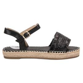 Small Swan Espadrillat Musta sandaalit