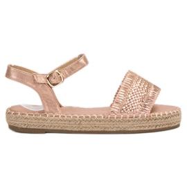 Small Swan Espadrillat Pinkki sandaalit