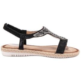 Emaks musta Slip Espadrillen sandaalit