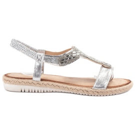 Emaks harmaa Slip Espadrillen sandaalit