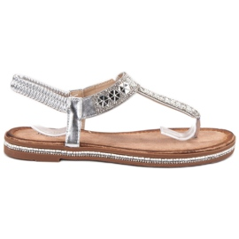 SHELOVET Silver Sandals harmaa