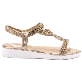 SHELOVET keltainen Slip-on Wedge-sandaalit