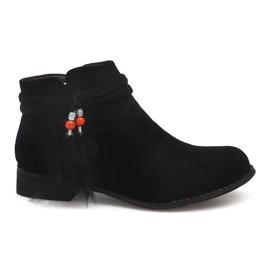 Suede Boots Jodhpur-saappaat H1911 Black musta