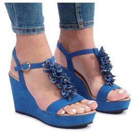 Sininen Liris-kiila sandaalit